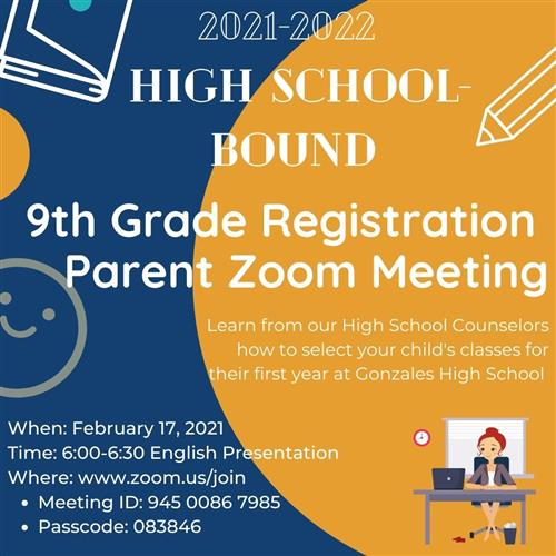9th Grade Registration - English