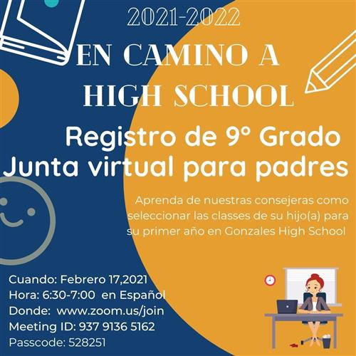 9th Grade Registration - Spanish