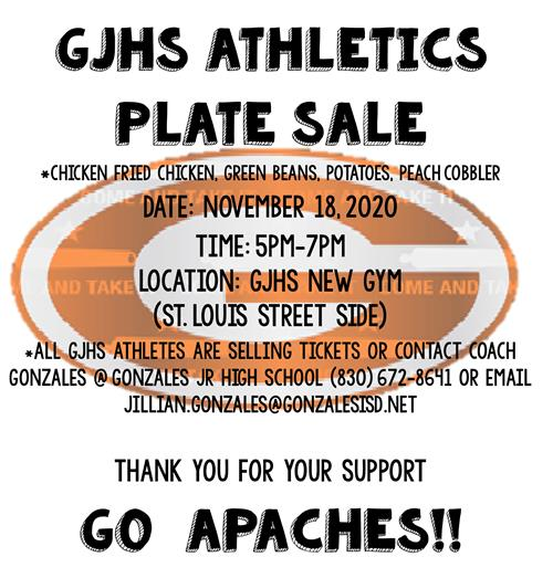 GJHS Plate Sale